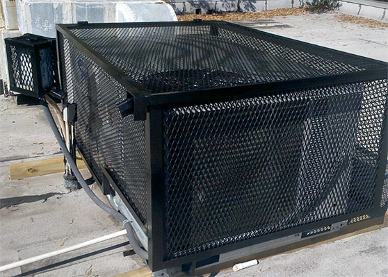 CageItUp RTU Full expanded metal roof top hvac