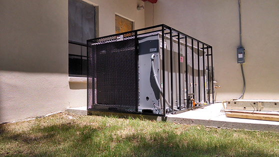Ground mounted seecurtiy cage rtu package unit