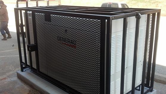 Industrial generator cage