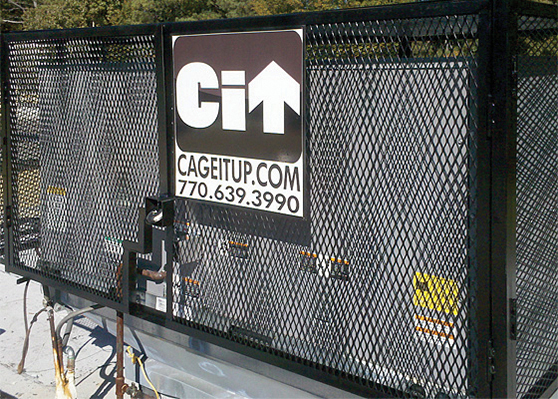 c fully enclosed expanded metal hinged doors