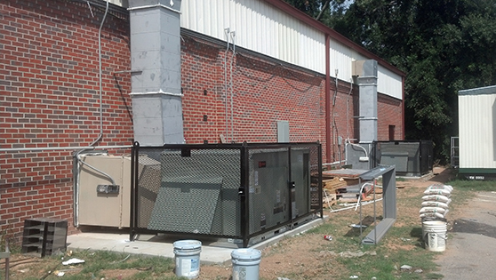 full expanded metal hvac cage