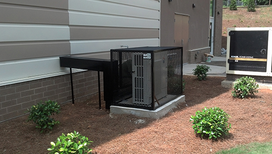 fully removable mini split ductless system security cage