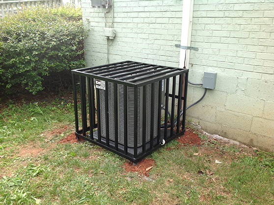 high security strong solid hvac cage copper air conditioner