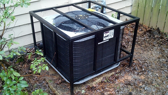 residential hvac cage security air conditioner back yard