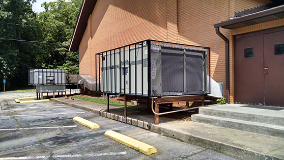 rtu security cage roof top air conditioner commercial hvac