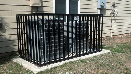 two unit hvac air conditioning security cage