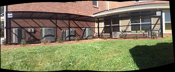 Custom asset security fence restricted area