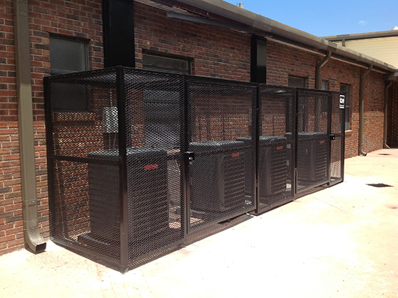 HVAC Fence Multiple air conditioners